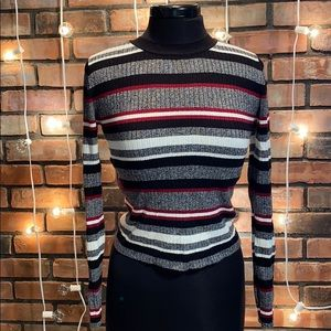 Divided H&M Striped Crew Neck Sweater
